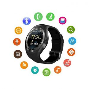 Y1 smart watch black update www.bovic.co.ke